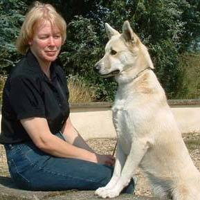 Jill Terry with her Canaan Dog, Sandy